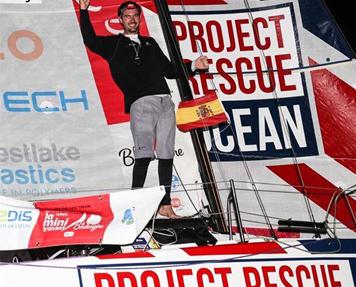 Axel Tréhin victoire Mini Transat 2019